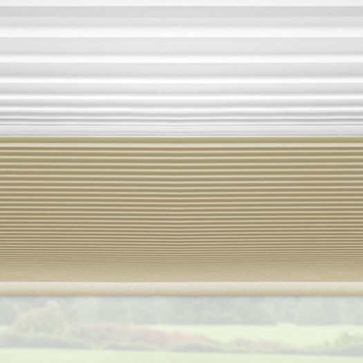 "3/4"" Single Cell Designer Blackout Trishade Honeycomb Shades 5447"