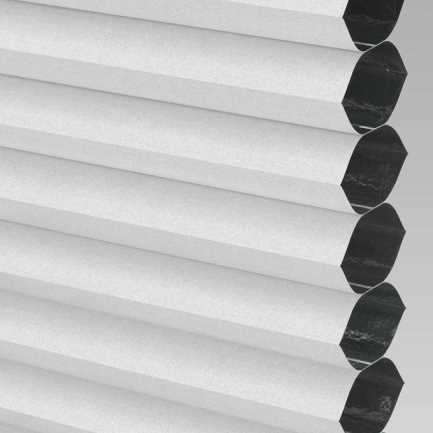 "3/4"" Single Cell Designer Blackout Trishade Honeycomb Shades 5449"
