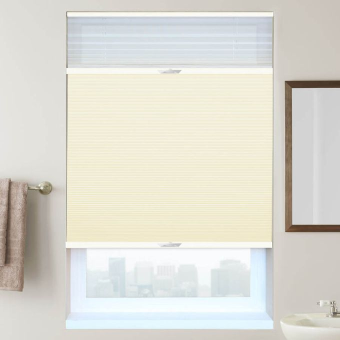 "3/4"" Single Cell Designer Blackout Trishade Honeycomb Shades"