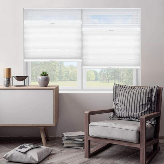 "3/4"" Single Cell Designer Light Filtering Trishade Honeycomb Shades 5482 Thumbnail"