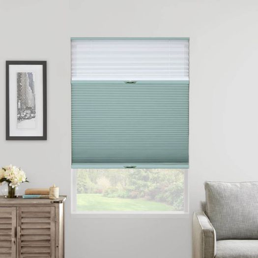 "3/4"" Single Cell Designer Light Filtering Trishade Honeycomb Shades 5487"