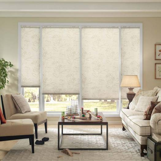 "3/4"" Single Cell (Good Housekeeping) Designer Signature Light Filtering Honeycomb Shades 5247"