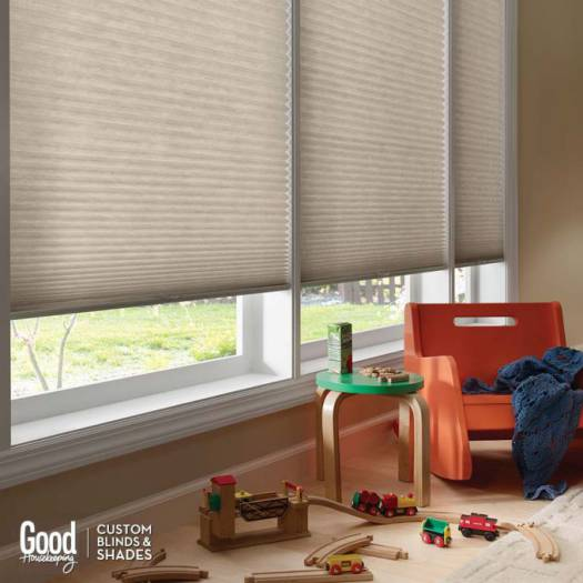 "3/4"" Single Cell (Good Housekeeping) Premium Cordless Light Filtering Honeycomb Shades 7059"