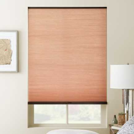 "3/8"" Double Cell (Carriann) Designer Signature Light Filtering Honeycomb Shades 4658 Thumbnail"