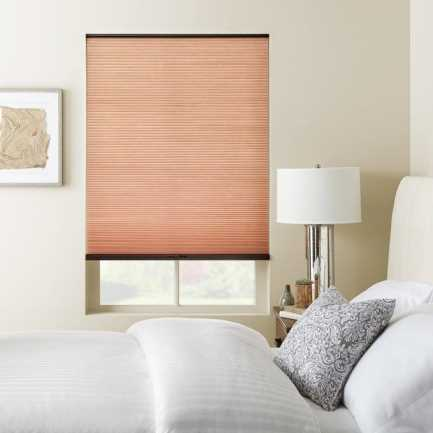 """3/8"""" Double Cell (Carriann) Designer Signature Light Filtering Honeycomb Shades 4660"""