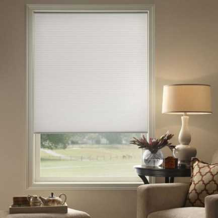 "3/8"" Double Cell (Carriann) Designer Signature Light Filtering Honeycomb Shades 4661 Thumbnail"