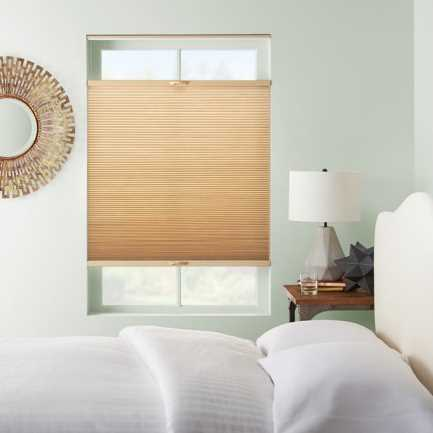"3/8"" Double Cell Premium Plus Blackout Honeycomb Shades 4901"