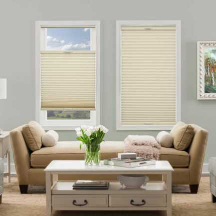 "3/8"" Double Cell Premium Plus Blackout Honeycomb Shades 4902"