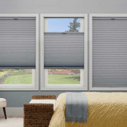 "3/8"" Double Cell Premium Plus Blackout Honeycomb Shades 4904"