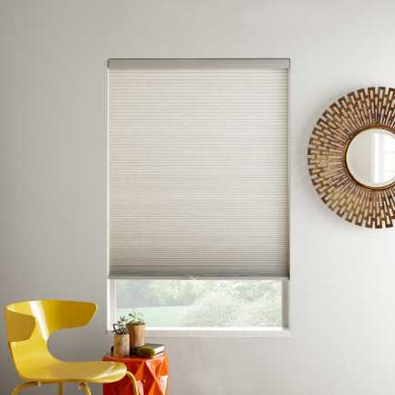 """3/8"""" Double Cell Value Cordless Light Filtering Honeycomb Shades 4918"""