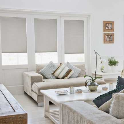 """3/8"""" Double Cell Value Cordless Light Filtering Honeycomb Shades 4919"""