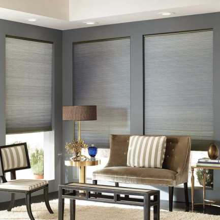 """3/8"""" Double Cell Value Cordless Light Filtering Honeycomb Shades 4921"""