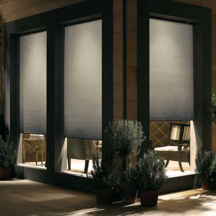"""3/8"""" Double Cell Value Cordless Light Filtering Honeycomb Shades 4922"""