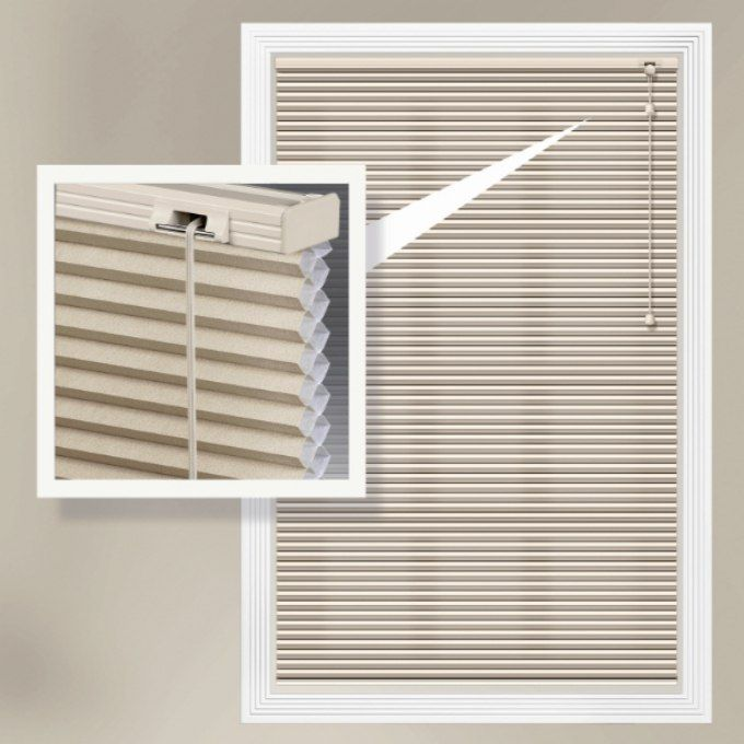 "3/8"" Single Cell Premium Light Filter Honeycomb Shades 4336"