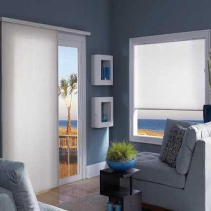 "3/4"" Single Cell Premium Plus Light Filtering Honeycomb Vertical Blinds 4185"
