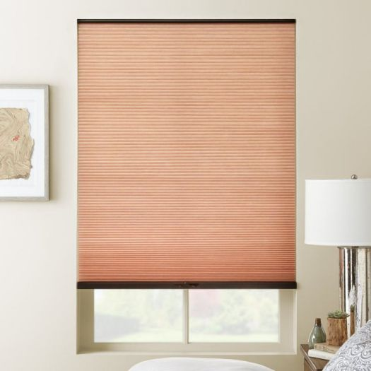 "3/8"" Double Cell (Carriann) Designer Signature Light Filtering Honeycomb Shades 4658"