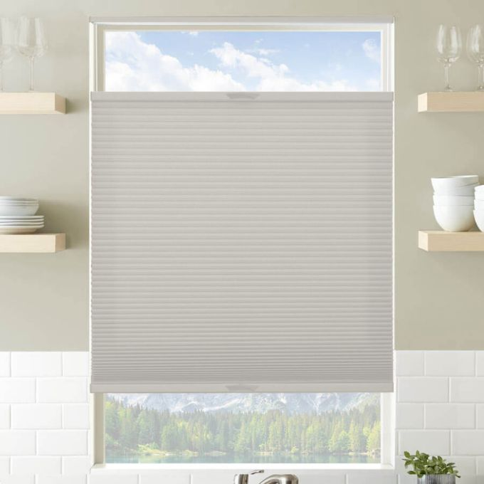 Designer Plus Cordless Top Down Bottom Up Light Filtering Pleated Shades 4428