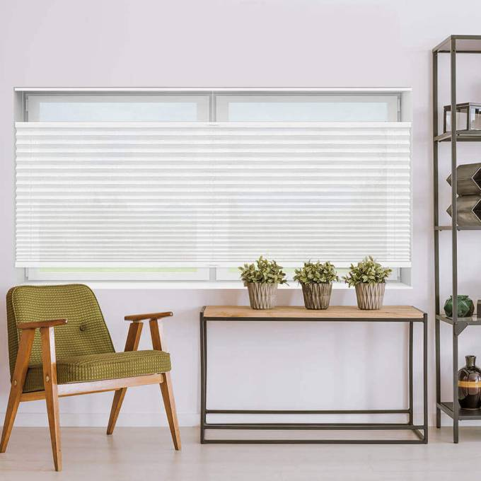 Designer Plus Cordless Top Down Bottom Up Light Filtering Pleated Shades 4429