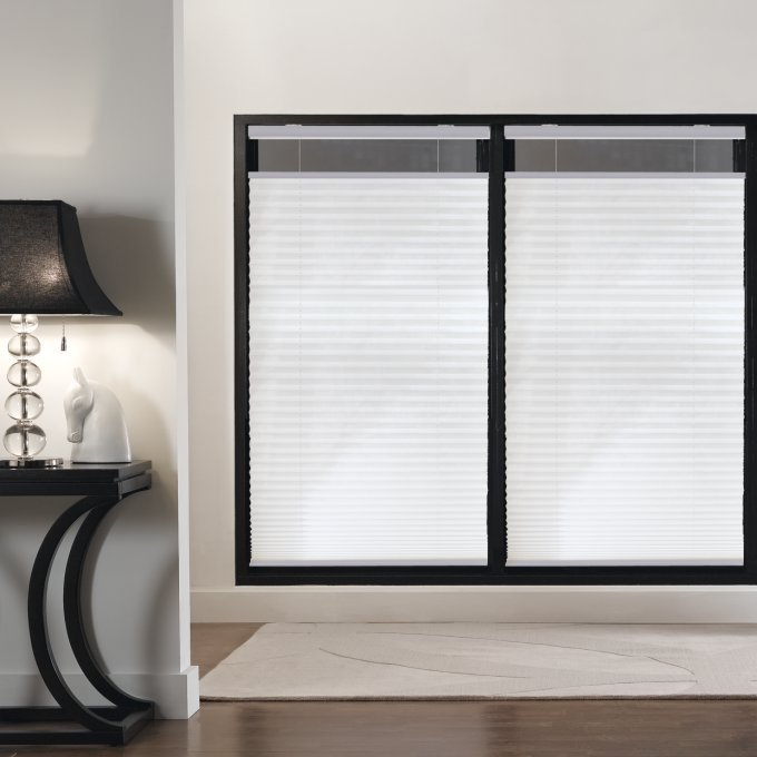 Designer Plus Cordless Top Down Bottom Up Light Filtering Pleated Shades 4432