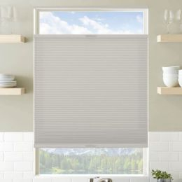 Designer Plus Cordless Top Down Bottom Up Light Filtering Pleated Shades