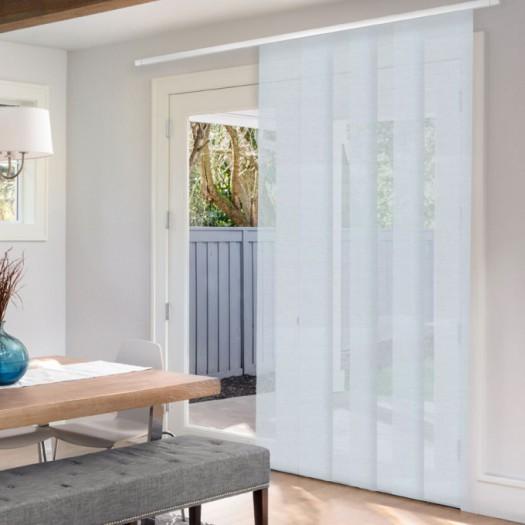 Panel Track Blinds For Sliding Glass Doors.Premium Light Filtering Fabric Panel Track Blinds