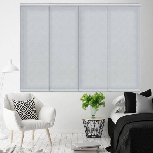 Premium Light Filtering Fabric Panel Track Blinds 4578 Thumbnail