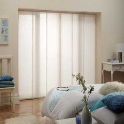 Premium Light Filtering Fabric Panel Track Blinds 4579