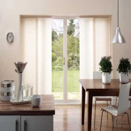 Premium Light Filtering Fabric Panel Track Blinds 4580