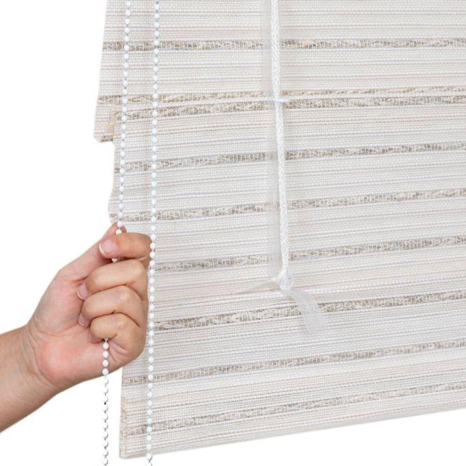 Designer Coastal Woven Wood Shades 8406