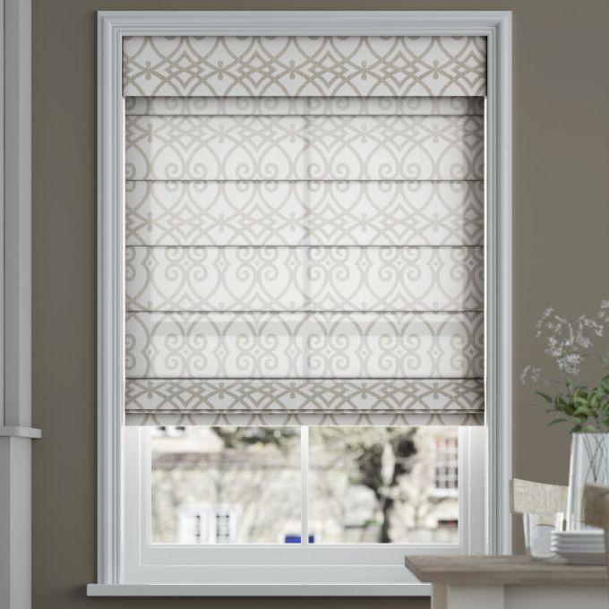 Designer Cordless Light Filtering Roman Shades 6520