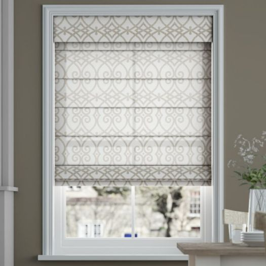 Designer Cordless Light Filtering Roman Shades 6520