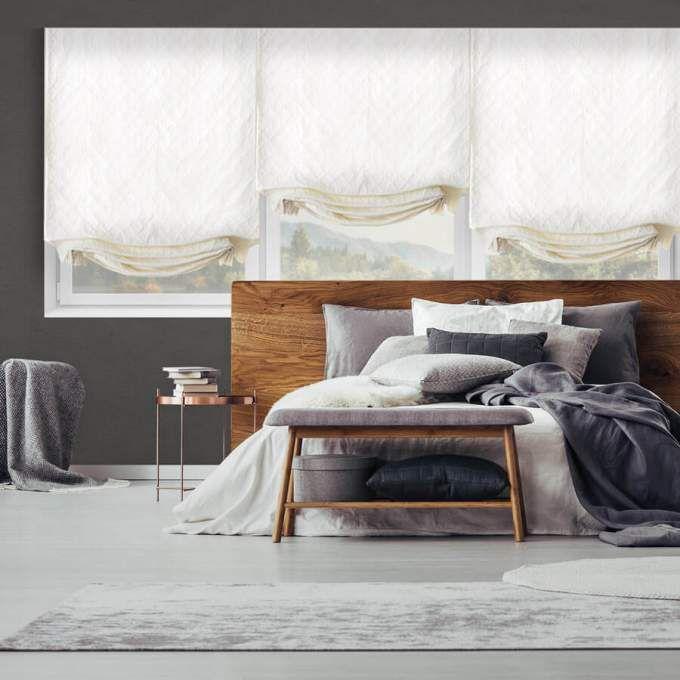 Designer Cordless Light Filtering Roman Shades 6521