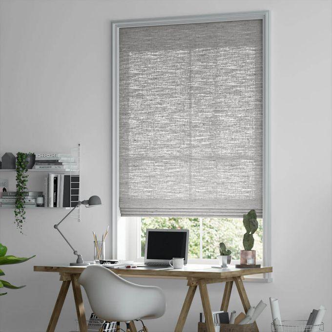 Designer Cordless Light Filtering Roman Shades 6524