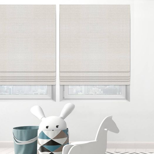 Designer Cordless Light Filtering Roman Shades 6525