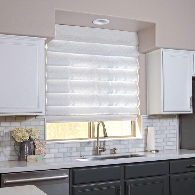 Designer Cordless Light Filtering Roman Shades 7234