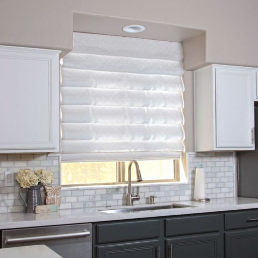 Designer Cordless Light Filtering Roman Shades 7234