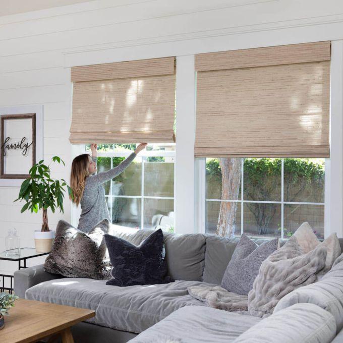 Designer Woven Wood/Bamboo Shades 8589