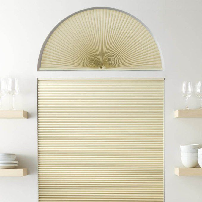 Double Cell Blackout Arch Window Shades 7321