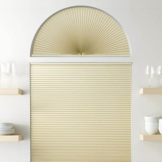 Double Cell Blackout Arch Window Shades 7321 Thumbnail