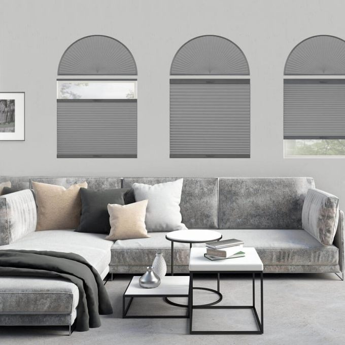 Double Cell Blackout Arch Window Shades 7322