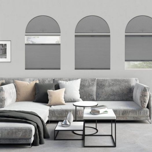 Double Cell Blackout Arch Window Shades 7322 Thumbnail