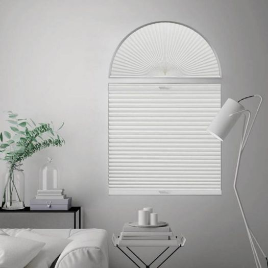 Double Cell Blackout Arch Window Shades 7323 Thumbnail
