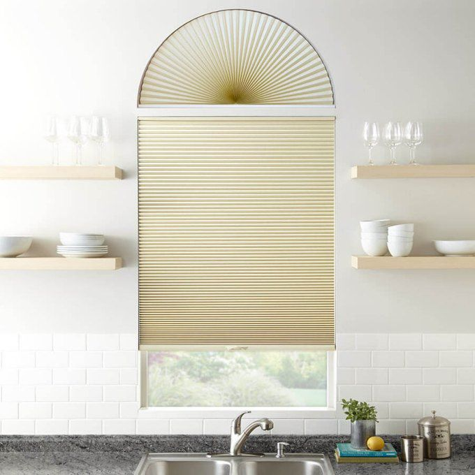 Double Cell Blackout Arch Window Shades 7324