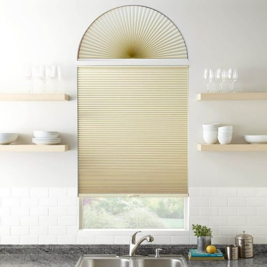 Double Cell Blackout Arch Window Shades 7324 Thumbnail