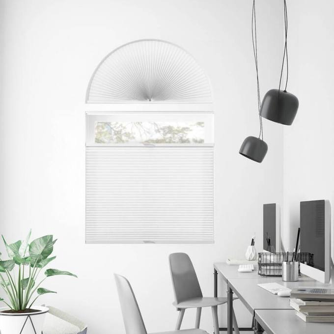 Double Cell Light Filtering Arch Window Shades 7331
