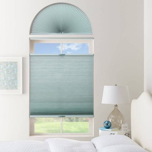 Double Cell Light Filtering Arch Window Shades 7334