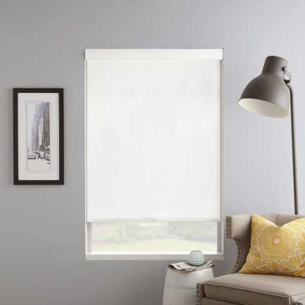 (Good Housekeeping) Designer Signature Light Filtering Fabric Roller Shades 7036