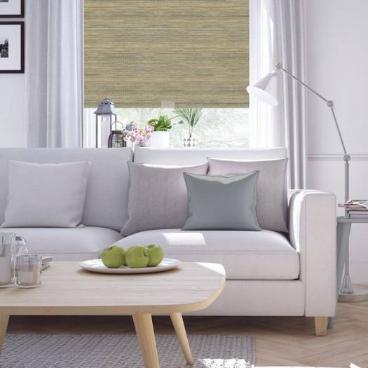 (Good Housekeeping) Designer Signature Light Filtering Fabric Roller Shades 7029