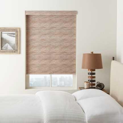 (Good Housekeeping) Designer Signature Room Darkening Fabric Roller Shades 7043
