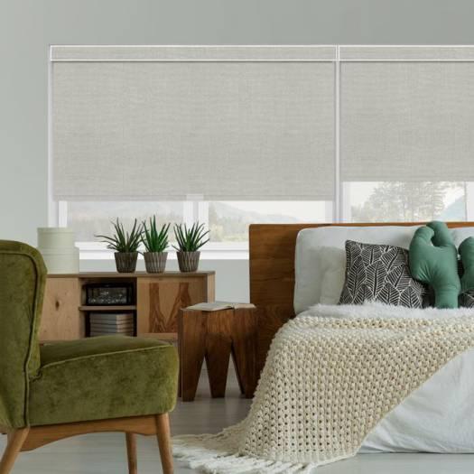 (Good Housekeeping) Designer Signature Room Darkening Fabric Roller Shades 5274